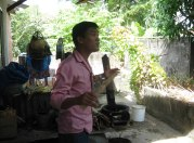 Phu explaining Vietnamese kitchens.