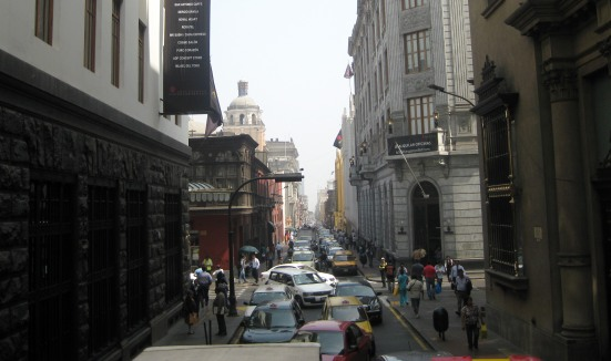 Typical Lima traffic.
