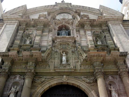 Front of the Basilica Cathedral of Lima