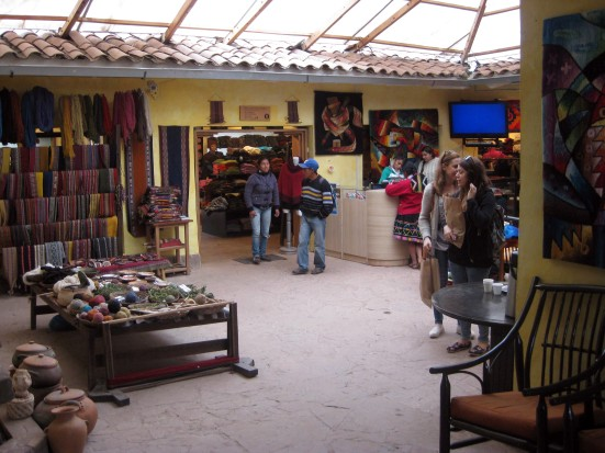 Workspace and retail store selling insanely expensive alpaca-wool clothing.