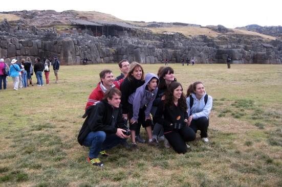 Incan fortress outside Cuzco, Peru.