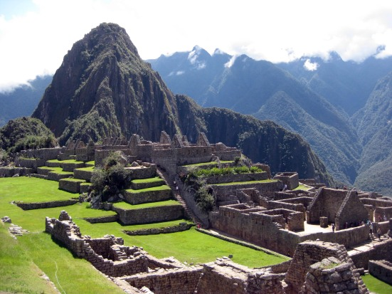 Another shot of the Incan ruins with Wayna Picchu in the background.