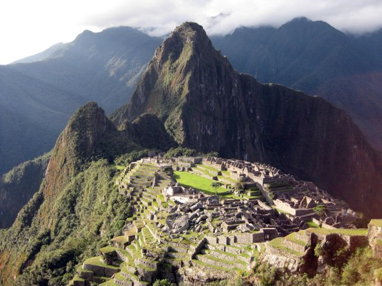 Machu Picchu around 4:30pm, May.