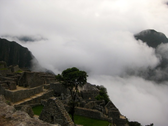Foggy Machu Picchu at 6:15am.