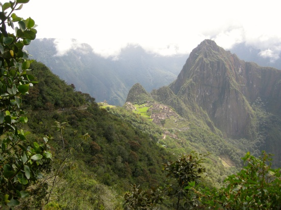 Machu Picchu from along the trail up to the Sun Gate.