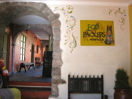 Ecopackers lobby. Cusco, Peru.