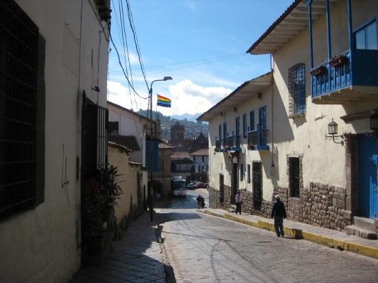 The 7-color rainbow flag in Peru represents Tawantin Suyu (Inca territory.)