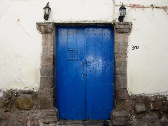 Another blue door in Cusco, Peru.