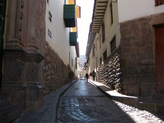 Narrow road near central Cusco.