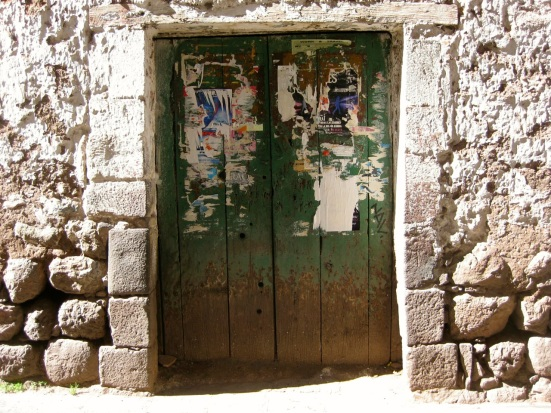 Weathered door close to Plaza de Armas in Cusco, Peru.
