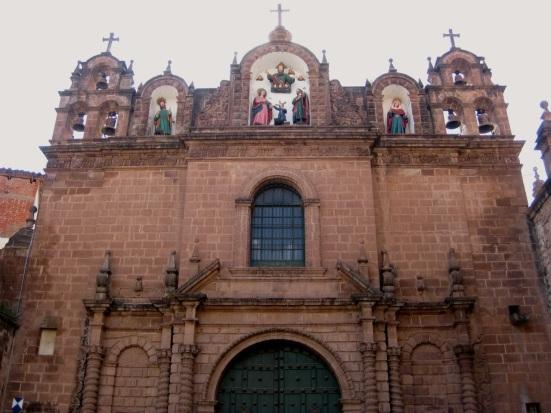 Cathedral of Santo Domingo on the Avenida de Sol in  Cusco, Peru.